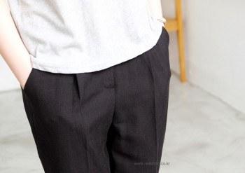 Mark wrinkled slacks -Black