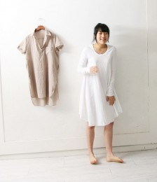 2Color-called basic human face Long Sleeve One Piece's