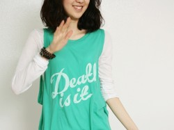 Printing cotton gauze vest tee 2Color-Green 28000 -> 12000