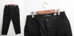 Black pants one waist button
