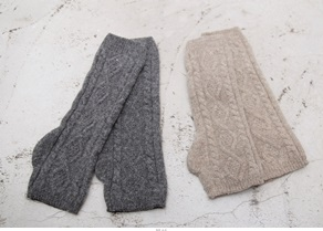 SALE - exhaust knitted hand warmers -Beige