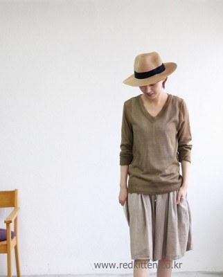 V-neck knit-3Color