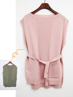 Sale - marang knit vest -41800 -> 25000 color Mint