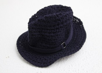 Knitting Fedora
