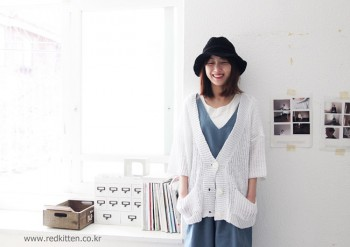 Loose knit cardigan -3Color