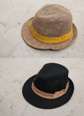Fedora 2Color-natural materials, natural dyes