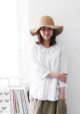 Lace collar blouse -3Color