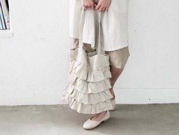 Linen Bag Ruffle
