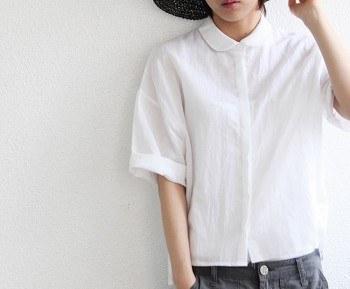 Round collar blouse Annie -2Color