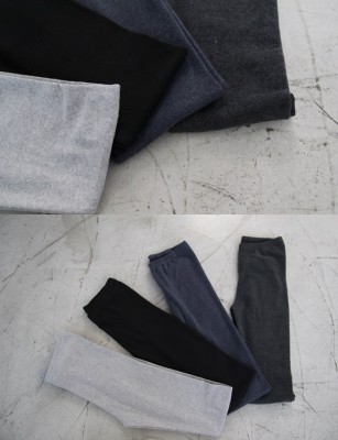 Pitch brushed cotton leggings