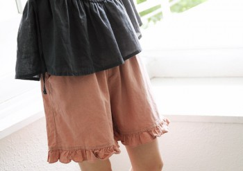 Frill hem shorts -3Color