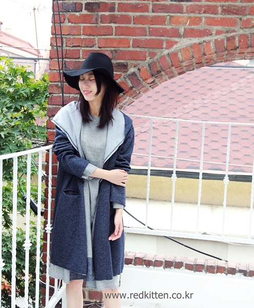 Sail - Knitted Shawl Jacket -dark gray 59800 -> 29800