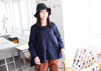 A-line blouse brushed -3Color