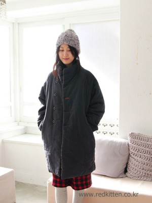 Quilted coat -2Color