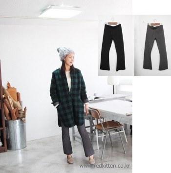 Buntto slacks -2Color-'s been warm, brushed on the inside