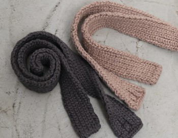 Mini knitted muffler -2Color
