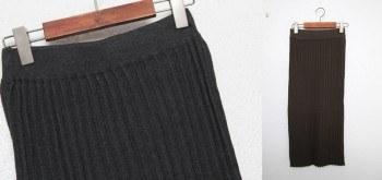 Wrinkle knit skirt