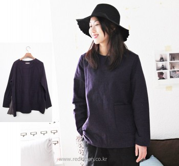 Zipper color blouse -3Color