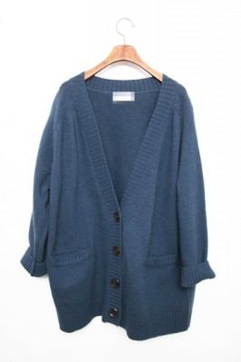 Sale - angora cardigan blue 75 800 -> 55000