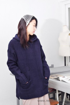 Sail - Knit hood pocket - Navy57800 -> 39000