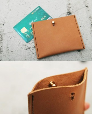 Vegetable leather card holder
