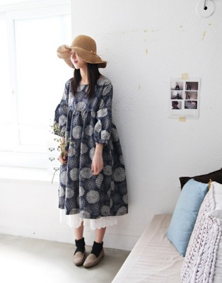Lotus linen dress