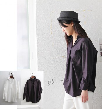 Wire shirt blouse -2Color