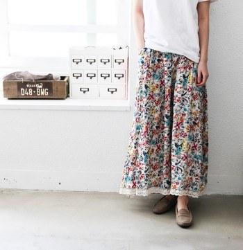 Yoru flower lace skirt -3Color