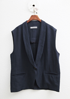 Dandy Linen Vest-2Color