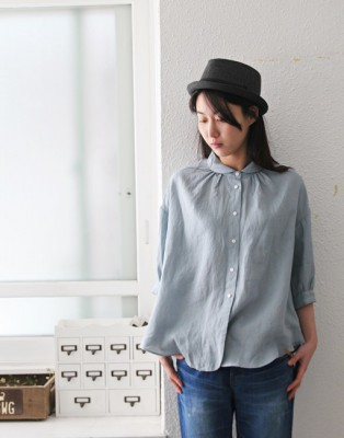 Curly Linen Shearing Blouse - 3Color