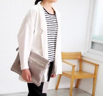 Sail-Pigment Simple Jacket -Ivory 76800 -> 44800