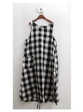 Check Plain Dress