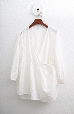 SALE - Wrap Blouse - Ivory 57600 -> 45000