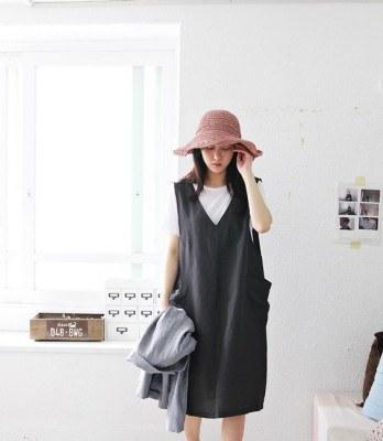 V-neck dress-2Color