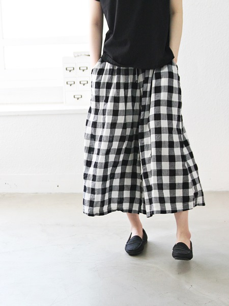 Gingham checked shorts - June 15 wearing