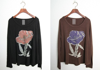 SALE - Spreading Big Flower - Black