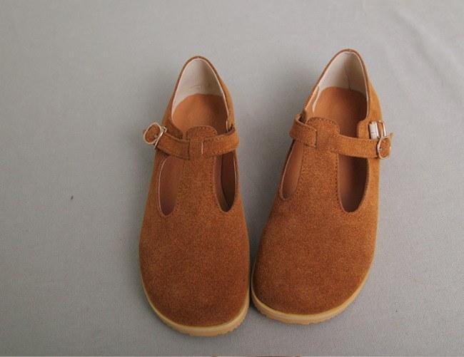 Cowhide leather shoes -2Color