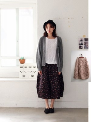 Jar Padded Skirt -2Color