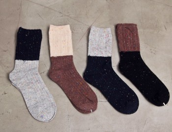 Two-color Bocashi socks