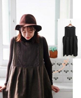 Motif Lace Dress -2Color