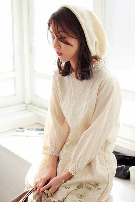 Pinch Lace Dress -2Color