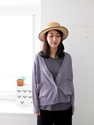 Linen cardigan - 3Color