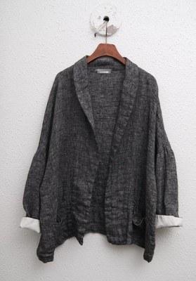 Linen Shawl Jacket -2Color