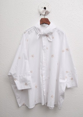 Embroidery Ribbon Blouse-White