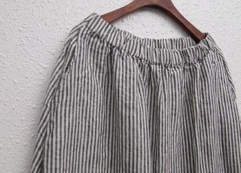 Linen modern long skirt