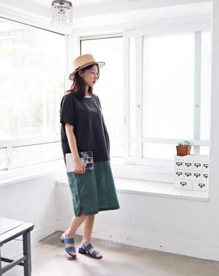 Color Dress One Piece -3Color