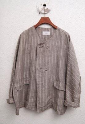 Linen Double Round Jacket -2Color