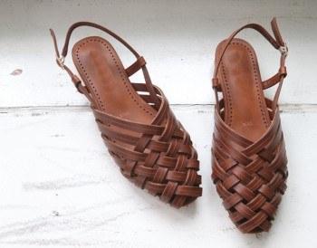 Pretzel sandals