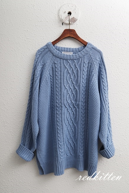 Winter Sale - Classic Twill Round Knit - Soft and Shiny 46800 -> 35000