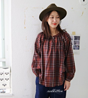Check blouse -2Color